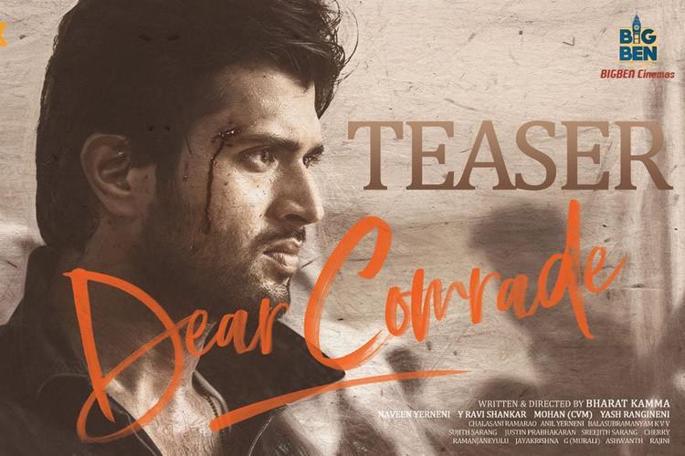 Vijay Devarakonda's Dear Comrade Trailer Release on July 11th