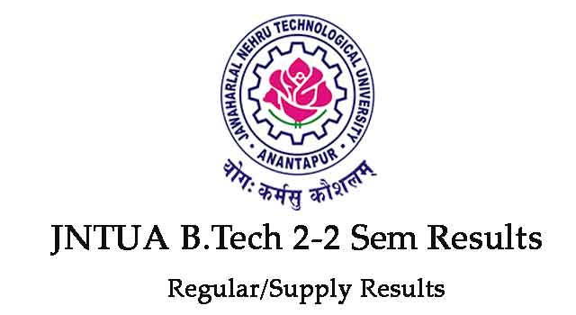 JNTUA B.Tech 2-2 Sem Results May/June 2019