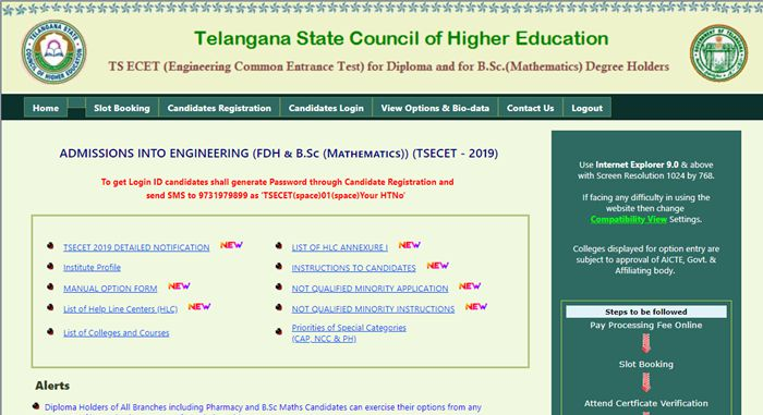 TS ECET 2019 2nd Phase Seat Allotment   Results Out!!