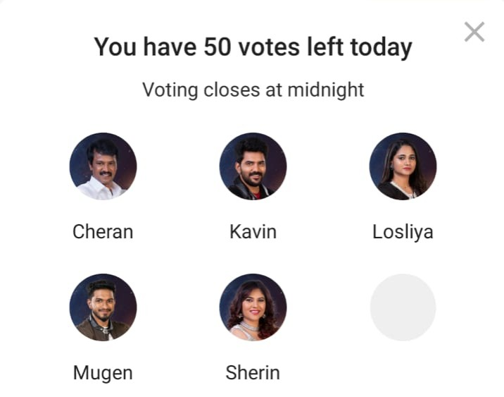 Bigg Boss Tamil 3 Day 71 Nominated Constestants
