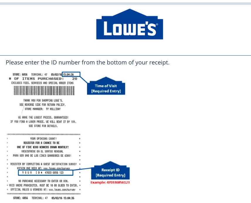 www.Lowes.Com/Survey 2021 - Take Lowes Survey Guest Feedback and Win $500 Cash