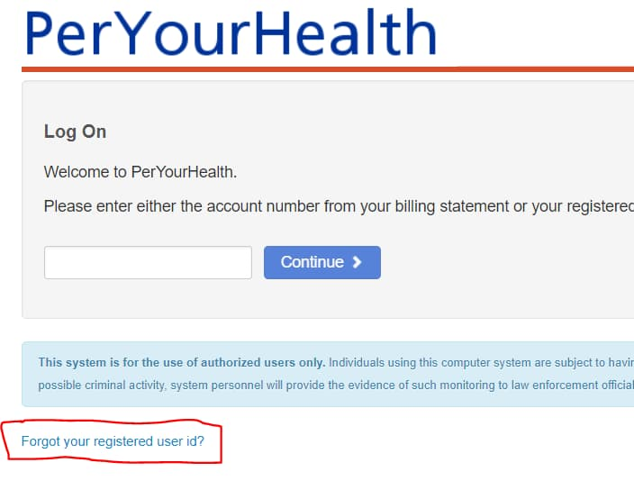 PerYourHealth : Online Bill Payment at www.peryourhealth.com