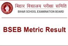 bseb metric result