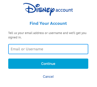 DVC find your account page