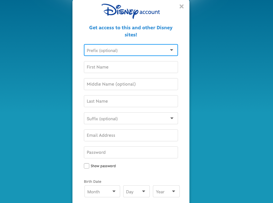 DVC Account Registration Page