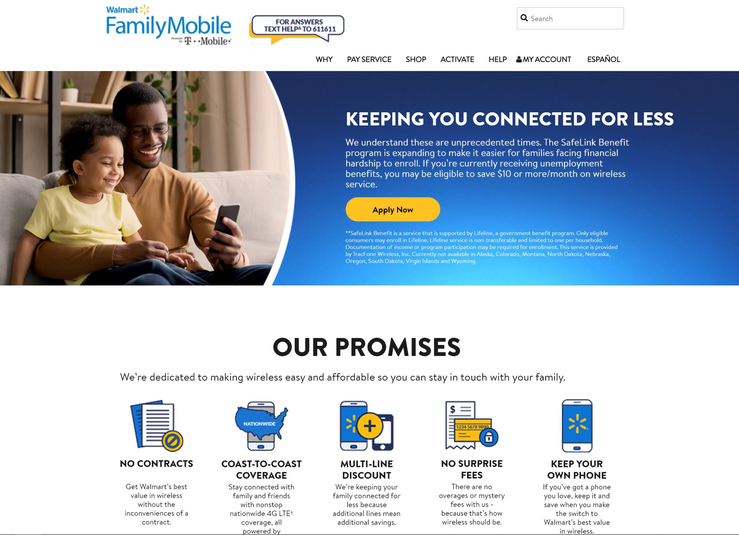 Family mobile apply now