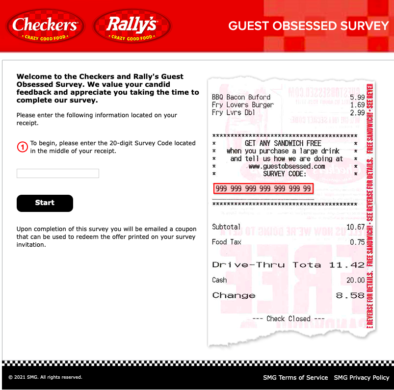 GuestObsessed feedback form with Survey Code