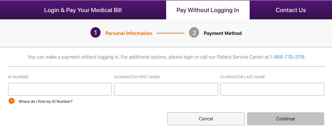 MyMedicalMe bill payment method