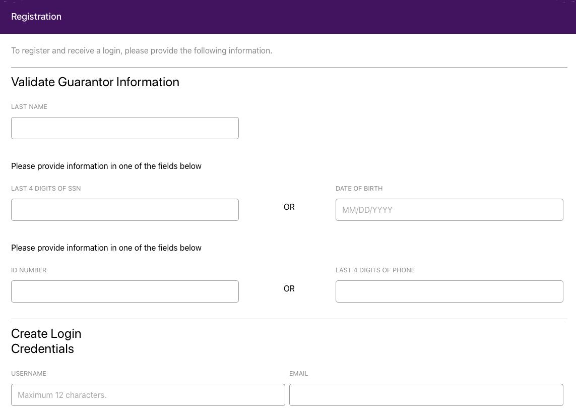 MyMedicalMe account registration page