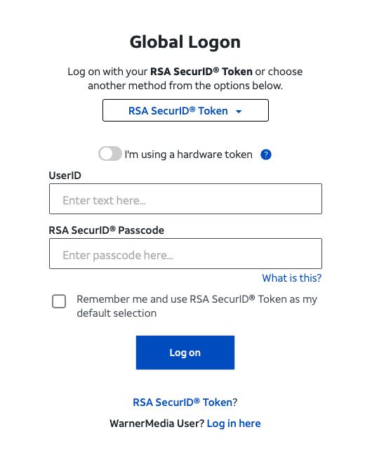 Mycsp Att RSA SecurID Token Option