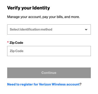 Myfiosgateway identity verification page