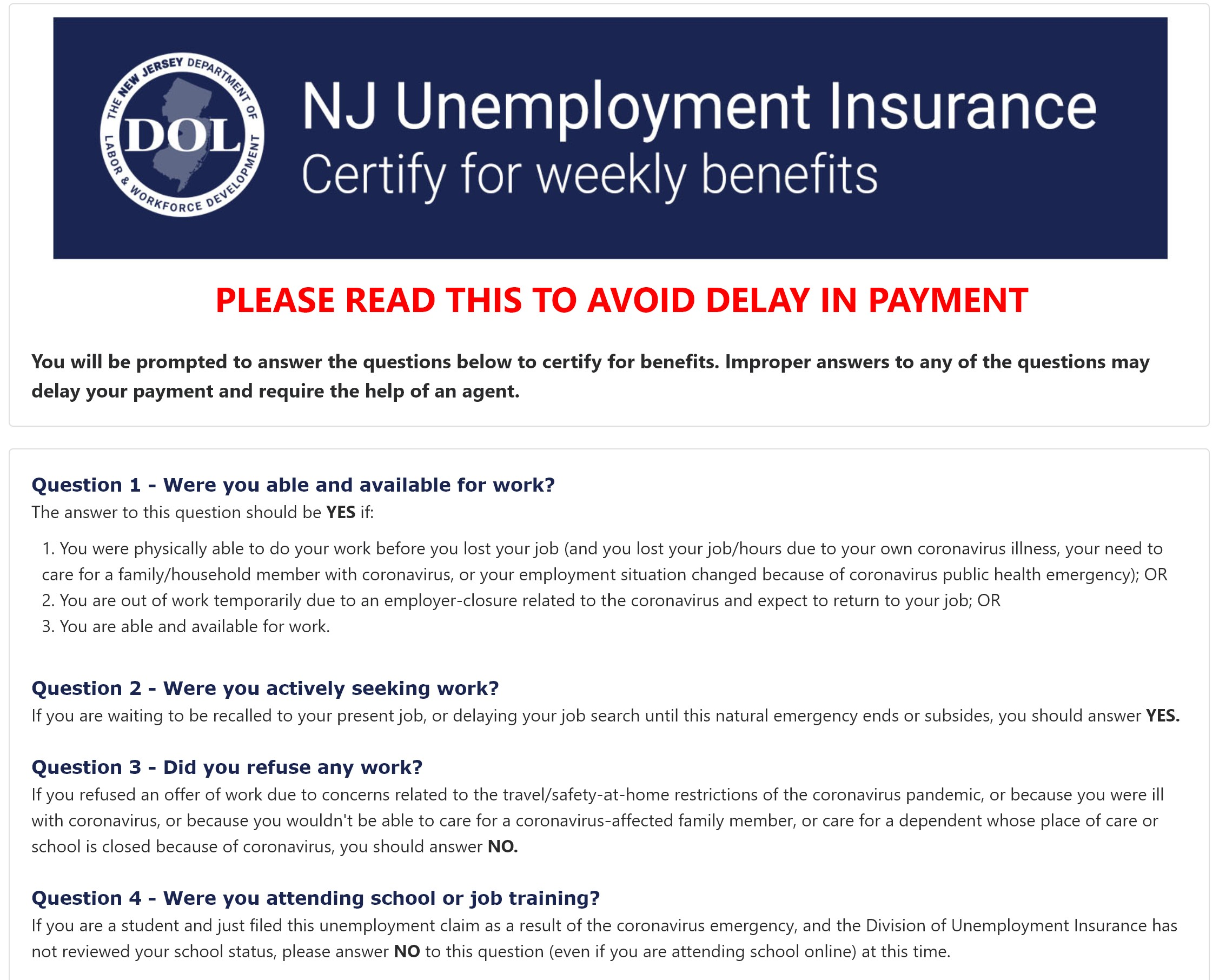 NJUIFILE - New Jersey Unemployment Claim at www.Njuifile.com
