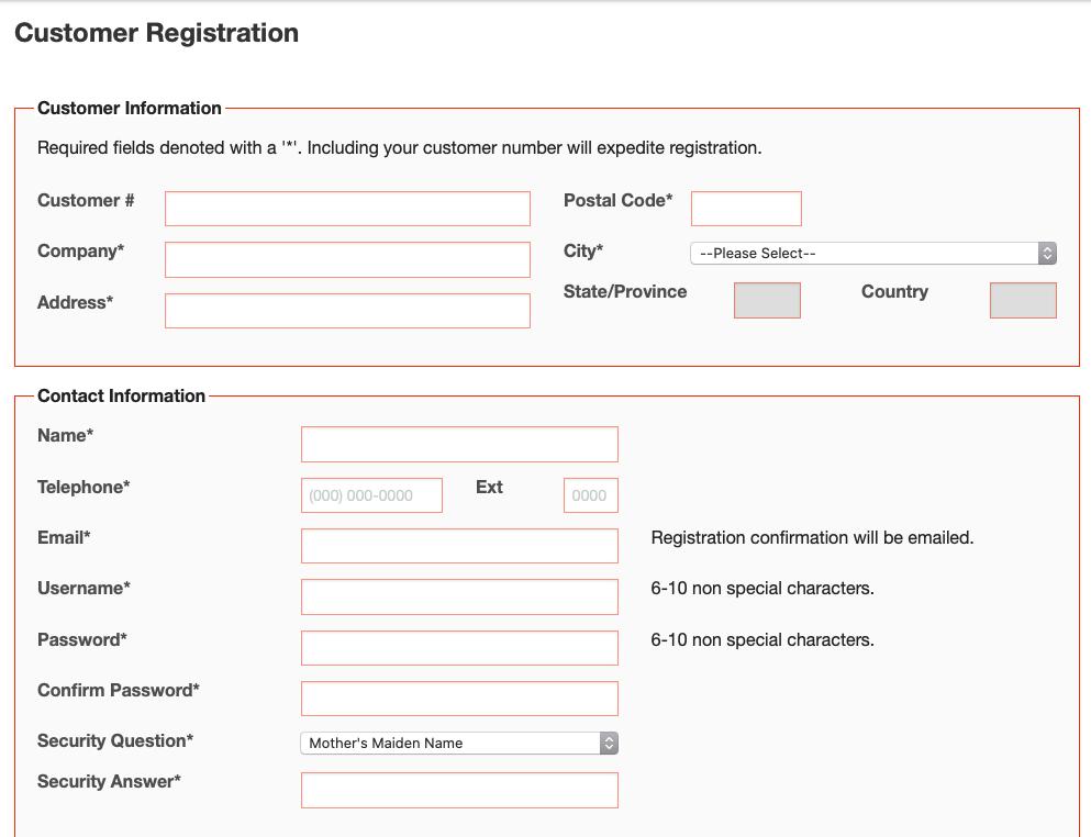 ODLF4me registration page