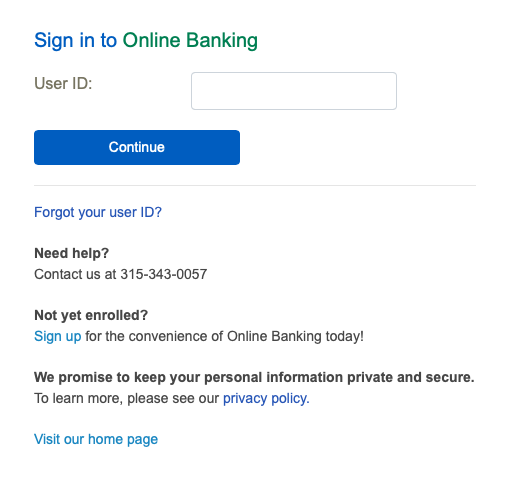 Pathfinder Bank personal account sign in