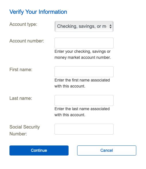 Pathfinder Bank online account User ID reset