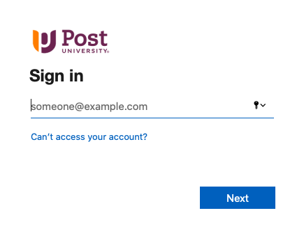 Post One Login Page