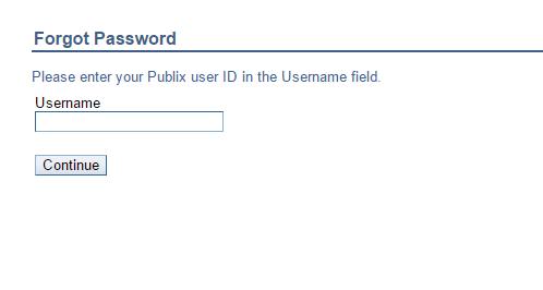 Publix-Passport-Forgot-Password