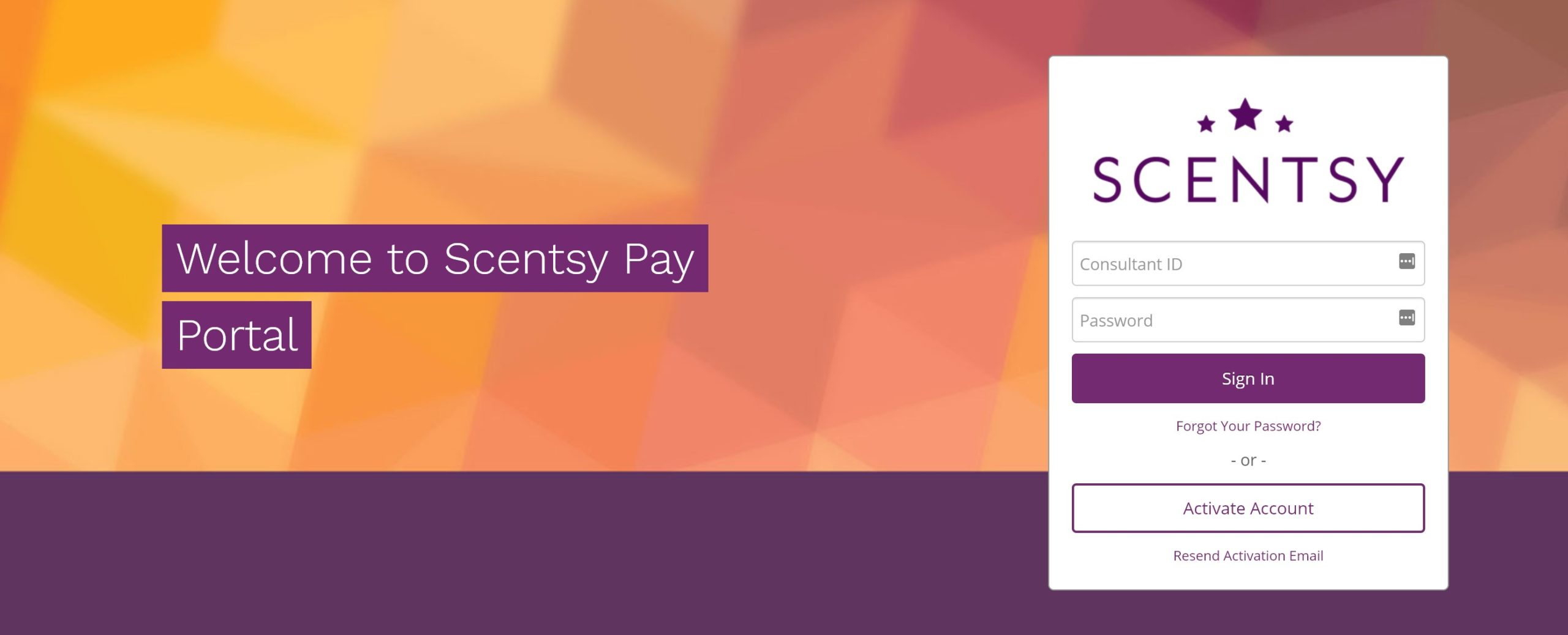 Scentsy pay login