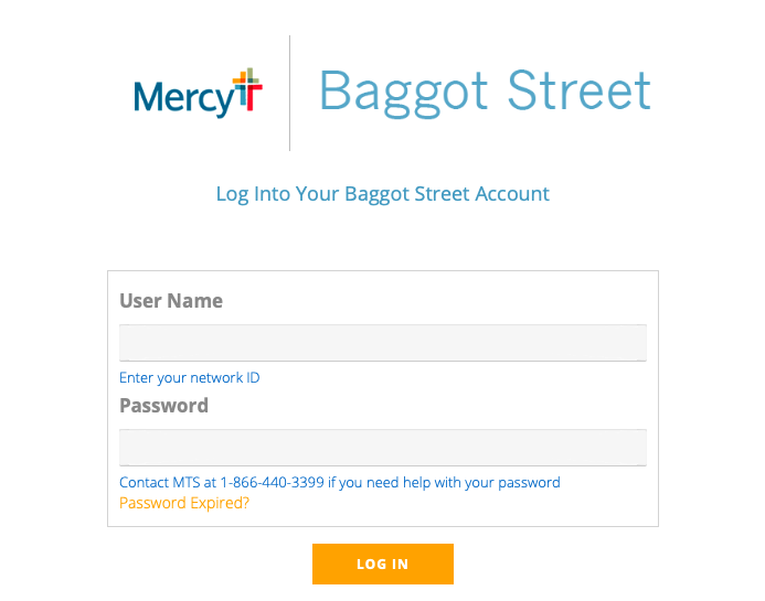Smart Square Mercy login page