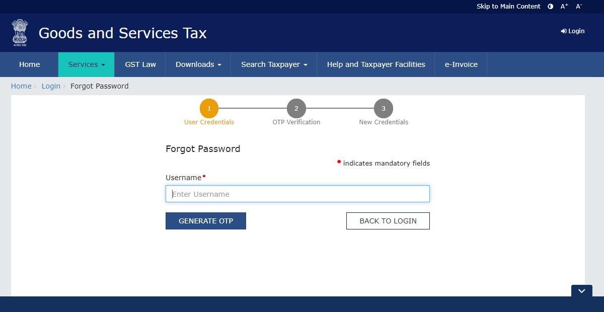 GST Login - www.gst.gov.in - Register for GST Online Portal