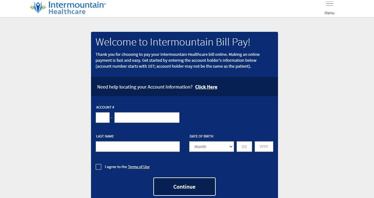 Intermountain Bill Pay Login at www.intermoutainbillpay.com Sign In