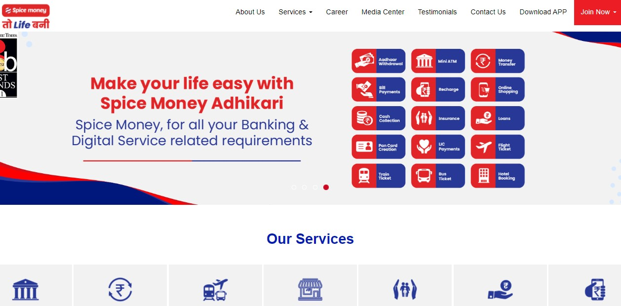 Spice Money Agent Login at b2b.spicemoney.com - Adhikari Registration