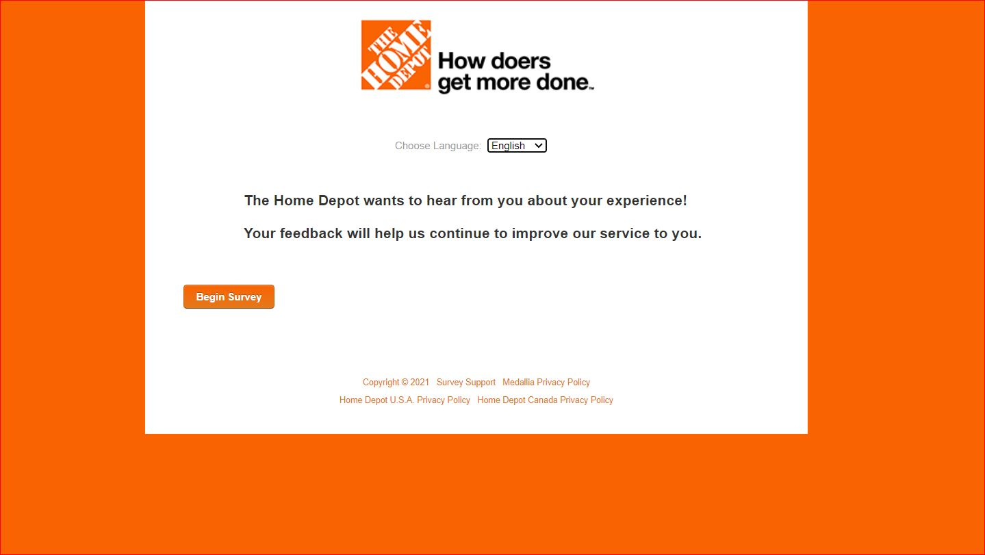 www.homedepot.com/survey - Home Depot Survey Win $5K