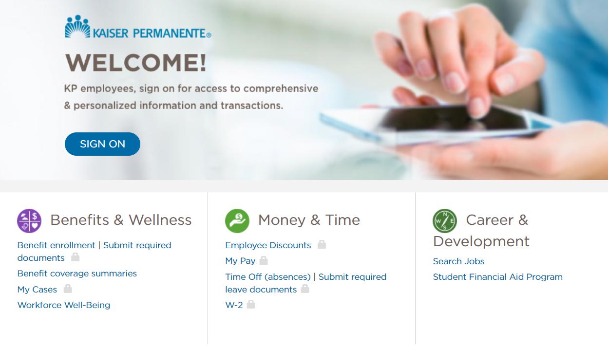 My Hr Kaiser Permanente Login - my hr kp online employee benefits