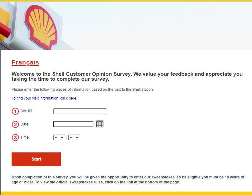 Shell Canada Survey At www.shell.ca/opinion ant tellshell.shell.com