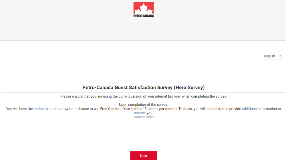 Petro Canada Survey at www.Petro-Canada.ca/hero