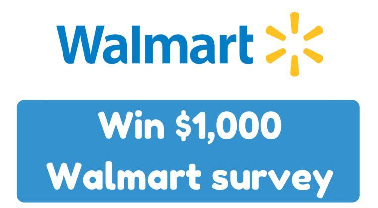 Walmart Canada Survey At Survey.walmart.ca - Win Up to $1000