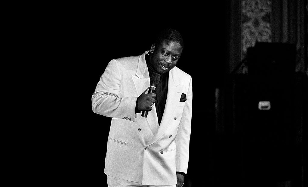 Comedian Robin Harris performs in what would be his final performance at the New Regal Theater in Chicago, Illinois on March 17, 1990.   Photo: Getty Images