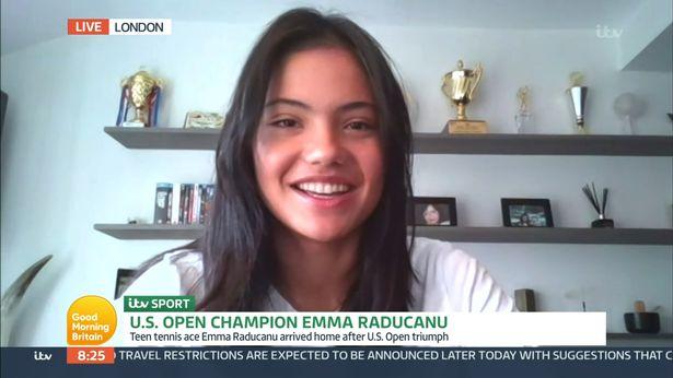 British tennis star Raducanu appeared on Good Morning Britain on Friday