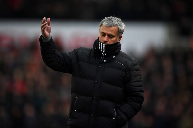 Mourinho was left annoyed at Clattenburg's decision to not award a penalty to Man Utd against Stoke