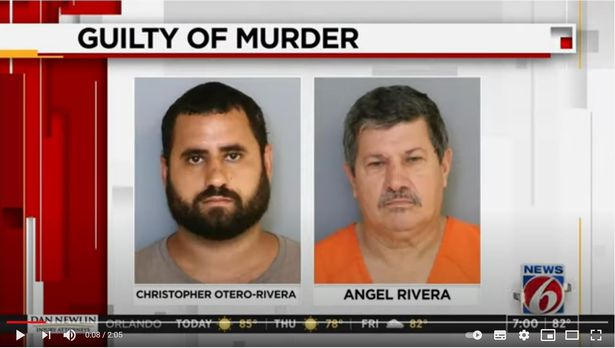 Christopher Otero-Rivera and his father Angel Luis Rivera