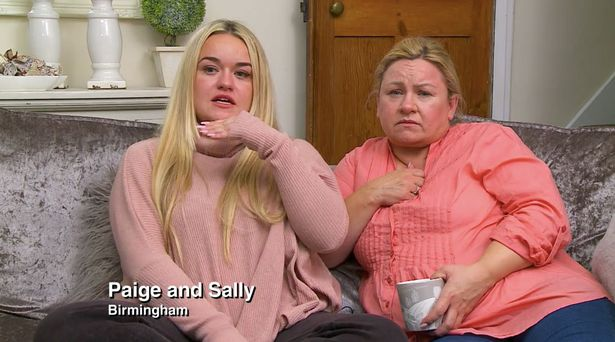 Paige refused to film with anybody other than her mum, Sally