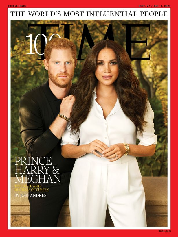 Prince Harry and Meghan on the cover of Time magazine's 100 most influential people