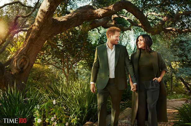 The famously private Hollywood celebrity couple take a stroll through the woods for their TIME Magazine feature