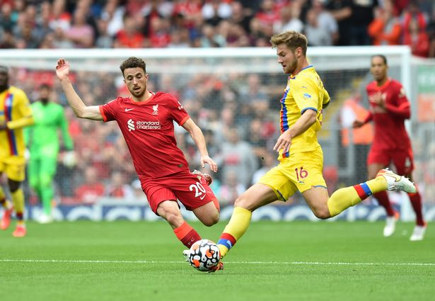 Diogo Jota missed an absolute sitter to put Liverpool ahead in the first-half