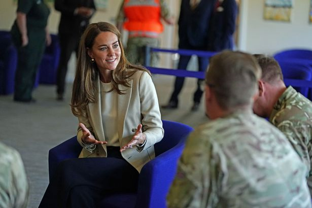 Kate met those who assisted the Afghanistan evacuation at RAF Brize Norton on Wednesday
