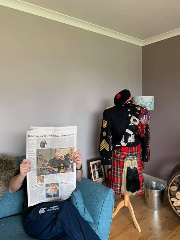 Scott was a royal piper for many years