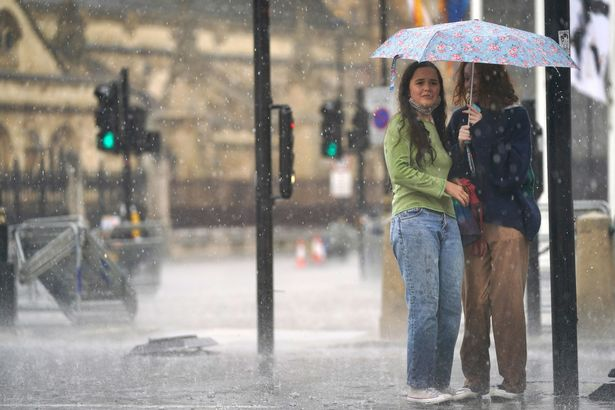 The capital will see the longest period of rainfall throughout the day, with several hours of downpours