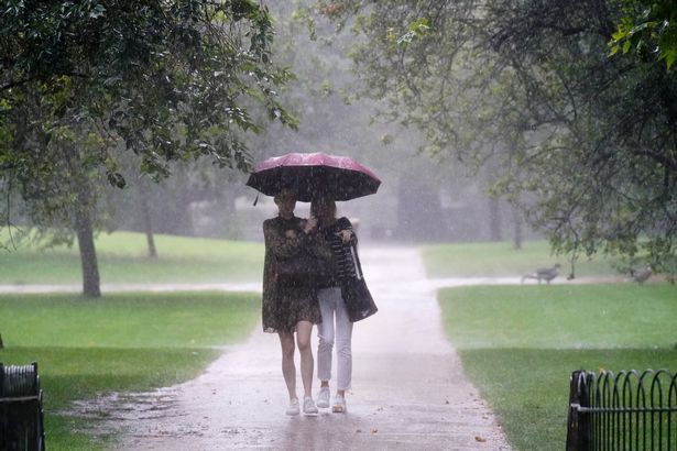 The rain follows storms that drenched Brits earlier this week before the UK saw two days of glorious sunshine