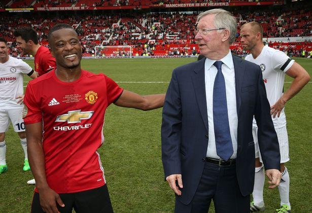 Patrice Evra was discussing Sir Alex Ferguson's retirement on United's official podcast