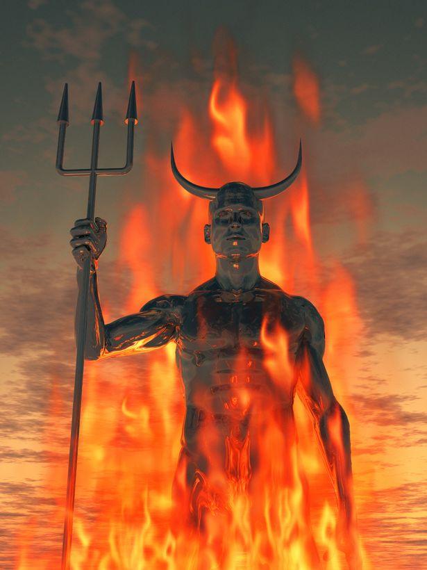 Satan stock image