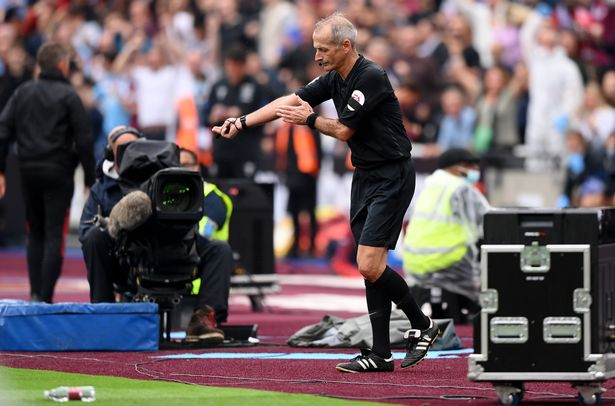 Referee Martin Atkinson adjudged Luke Shaw to have handled the ball after reviewing the VAR monitor