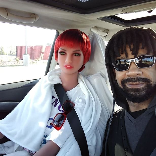 jay with doll on drive