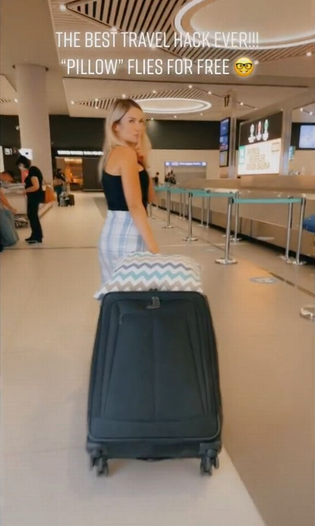 airport woman with suitcase