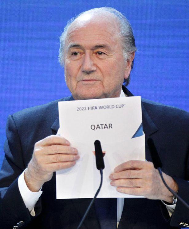 Fifa president Sepp Blatter announces Qatar as World Cup hosts