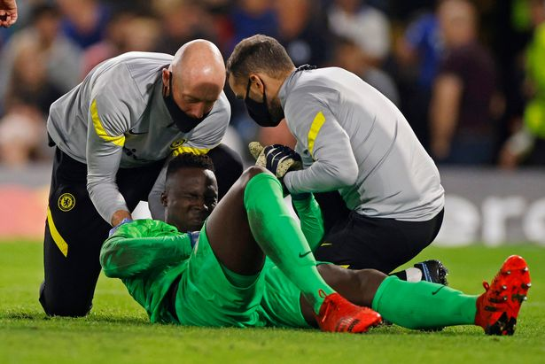 Edouard Mendy was injured during Chelsea's win over Zenit St Petersburg